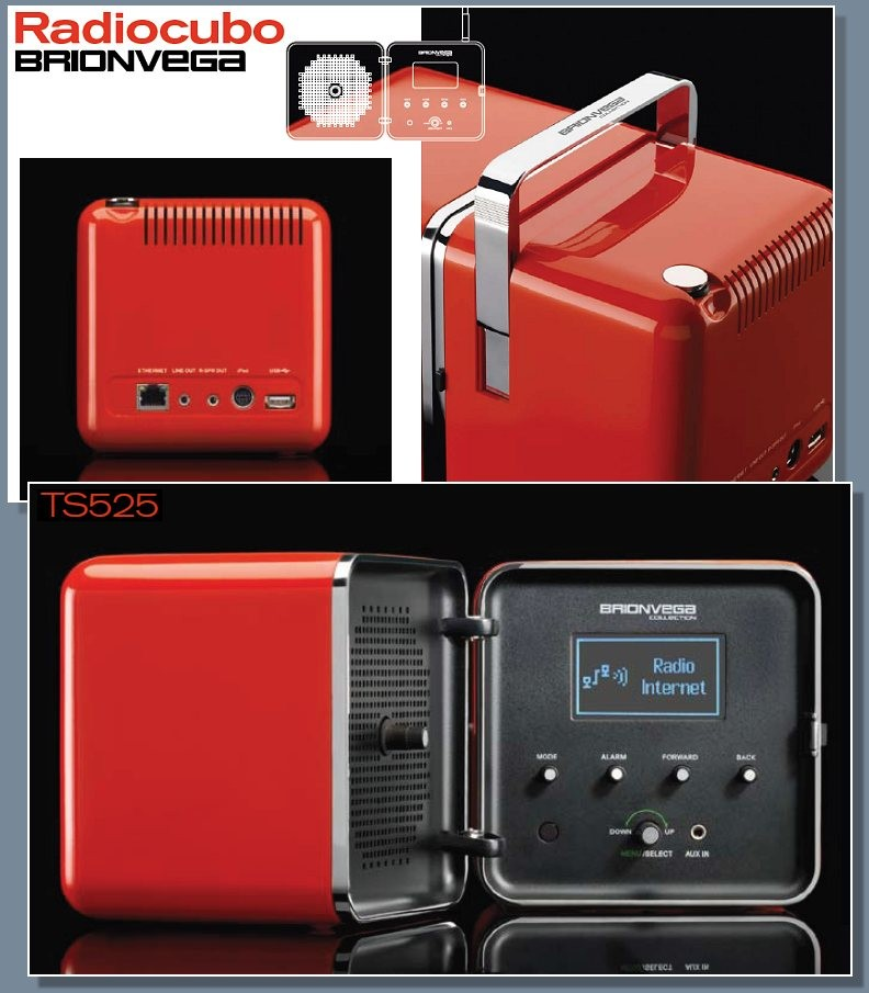 Brionvega, Ts 502, Ts522, Ts525, Richard Sapper, Marco Zanusso, Design, 60s, 70s, Sixties, Seventies, DAB, Wifi, Subwoofer, CD, Ipod, Iphone