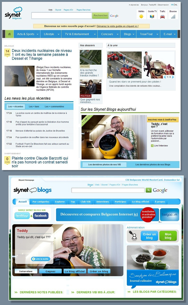 Teddy, VIB, Skynet, Skynetblogs, Skynetblog, Blog, Bloggeur, Merci, Ma tronche, Ma Pomme,
